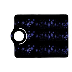 Xmas elegant blue snowflakes Kindle Fire HD (2013) Flip 360 Case