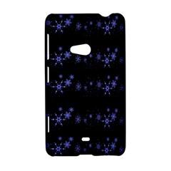 Xmas elegant blue snowflakes Nokia Lumia 625