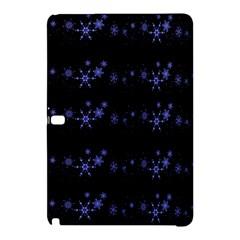 Xmas elegant blue snowflakes Samsung Galaxy Tab Pro 10.1 Hardshell Case