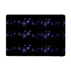 Xmas elegant blue snowflakes iPad Mini 2 Flip Cases