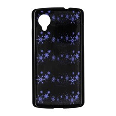 Xmas elegant blue snowflakes Nexus 5 Case (Black)