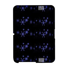 Xmas elegant blue snowflakes Amazon Kindle Fire (2012) Hardshell Case
