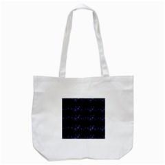 Xmas elegant blue snowflakes Tote Bag (White)