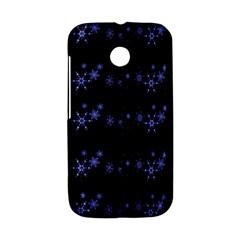 Xmas elegant blue snowflakes Motorola Moto E