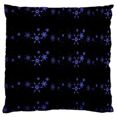 Xmas elegant blue snowflakes Standard Flano Cushion Case (Two Sides)