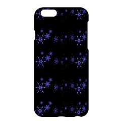 Xmas elegant blue snowflakes Apple iPhone 6 Plus/6S Plus Hardshell Case