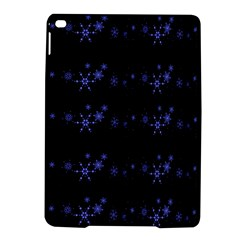 Xmas elegant blue snowflakes iPad Air 2 Hardshell Cases
