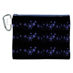 Xmas elegant blue snowflakes Canvas Cosmetic Bag (XXL)