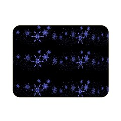 Xmas elegant blue snowflakes Double Sided Flano Blanket (Mini)