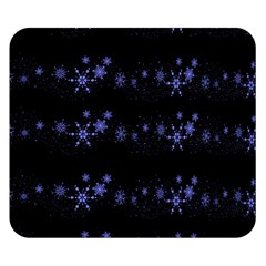 Xmas elegant blue snowflakes Double Sided Flano Blanket (Small)