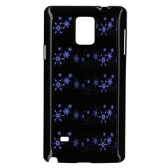 Xmas elegant blue snowflakes Samsung Galaxy Note 4 Case (Black)