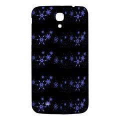 Xmas elegant blue snowflakes Samsung Galaxy Mega I9200 Hardshell Back Case