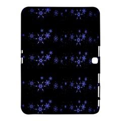 Xmas elegant blue snowflakes Samsung Galaxy Tab 4 (10.1 ) Hardshell Case