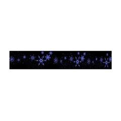 Xmas elegant blue snowflakes Flano Scarf (Mini)