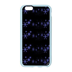 Xmas elegant blue snowflakes Apple Seamless iPhone 6/6S Case (Color)