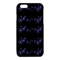 Xmas elegant blue snowflakes iPhone 6/6S TPU Case