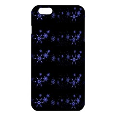 Xmas elegant blue snowflakes iPhone 6 Plus/6S Plus TPU Case