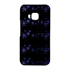 Xmas elegant blue snowflakes HTC One M9 Hardshell Case