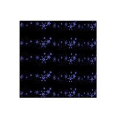Xmas elegant blue snowflakes Satin Bandana Scarf
