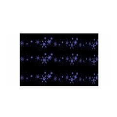 Xmas elegant blue snowflakes Satin Wrap