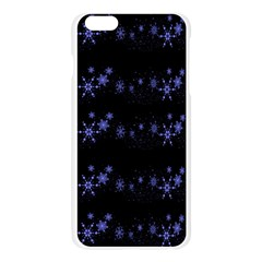 Xmas elegant blue snowflakes Apple Seamless iPhone 6 Plus/6S Plus Case (Transparent)