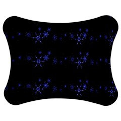 Xmas elegant blue snowflakes Jigsaw Puzzle Photo Stand (Bow)