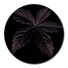 Pink Xray Flower Round Mousepads