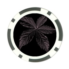 Pink Xray Flower Poker Chip Card Guards