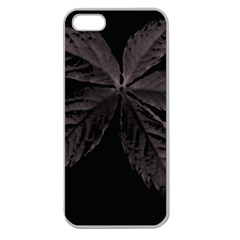 Pink Xray Flower Apple Seamless iPhone 5 Case (Clear)