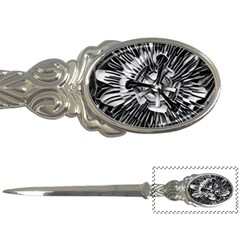 Black And White Passion Flower Passiflora  Letter Openers
