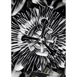 Black And White Passion Flower Passiflora  Heart 3D Greeting Card (7x5) Inside