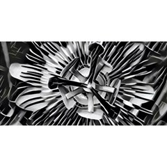 Black And White Passion Flower Passiflora  You Are Invited 3d Greeting Card (8x4)