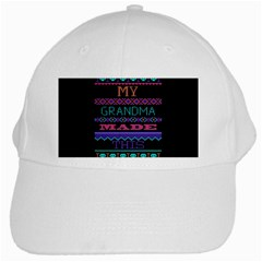 My Grandma Made This Ugly Holiday Black Background White Cap