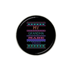 My Grandma Made This Ugly Holiday Black Background Hat Clip Ball Marker (4 pack)
