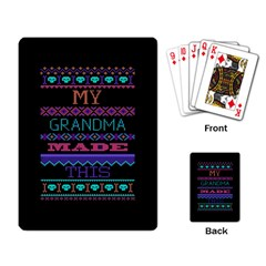 My Grandma Made This Ugly Holiday Black Background Playing Card