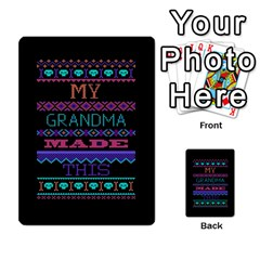 My Grandma Made This Ugly Holiday Black Background Multi Purpose Cards (rectangle)