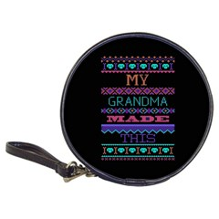 My Grandma Made This Ugly Holiday Black Background Classic 20 Cd Wallets