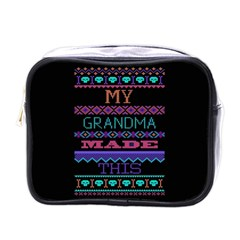 My Grandma Made This Ugly Holiday Black Background Mini Toiletries Bags
