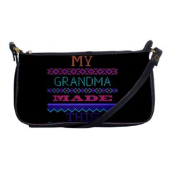 My Grandma Made This Ugly Holiday Black Background Shoulder Clutch Bags