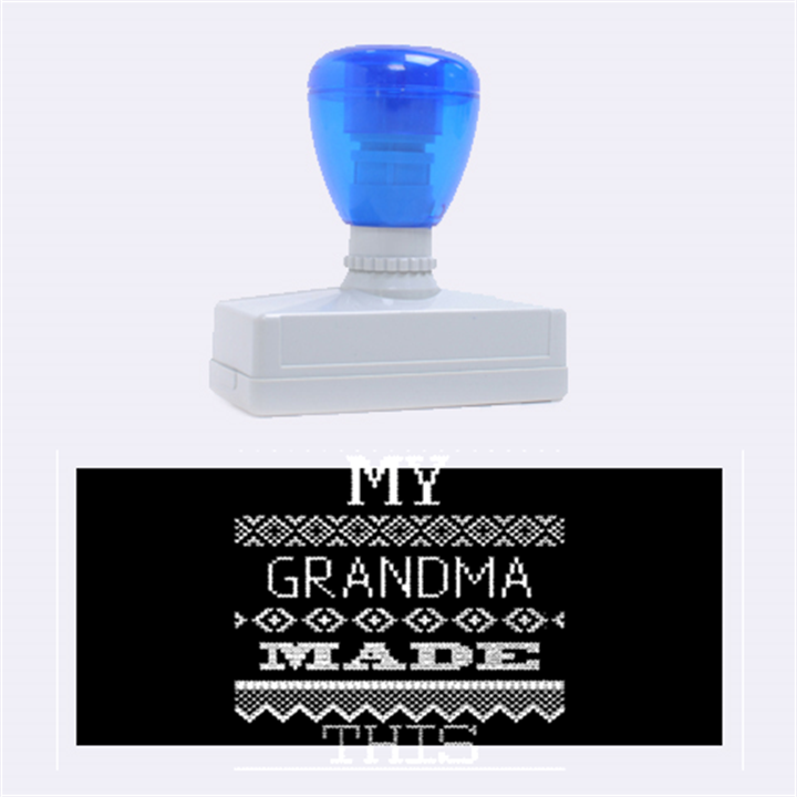 My Grandma Made This Ugly Holiday Black Background Rubber Stamps (Large)