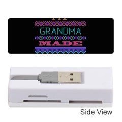 My Grandma Made This Ugly Holiday Black Background Memory Card Reader (Stick)