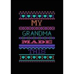 My Grandma Made This Ugly Holiday Black Background YOU ARE INVITED 3D Greeting Card (7x5) Inside
