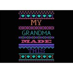 My Grandma Made This Ugly Holiday Black Background YOU ARE INVITED 3D Greeting Card (7x5) Back