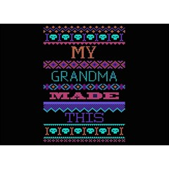 My Grandma Made This Ugly Holiday Black Background Birthday Cake 3d Greeting Card (7x5)