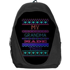 My Grandma Made This Ugly Holiday Black Background Backpack Bag