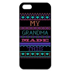 My Grandma Made This Ugly Holiday Black Background Apple iPhone 5 Seamless Case (Black)