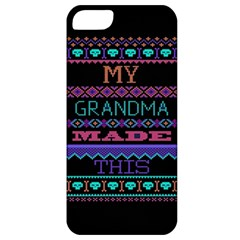 My Grandma Made This Ugly Holiday Black Background Apple iPhone 5 Classic Hardshell Case
