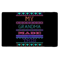 My Grandma Made This Ugly Holiday Black Background Apple iPad 2 Flip Case