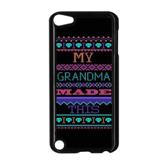 My Grandma Made This Ugly Holiday Black Background Apple Ipod Touch 5 Case (black)