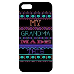 My Grandma Made This Ugly Holiday Black Background Apple iPhone 5 Hardshell Case with Stand